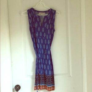 LOFT blue paisley dress